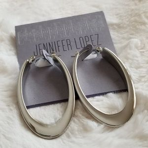 Silver Hoop earrings.